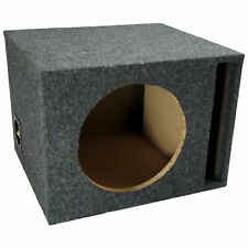 "Car Audio Single 10"" Vented Subwoofer Stereo Sub Box Ported Enclosure Speaker"