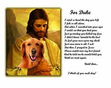 Unique Christmas Gift-Golden Retriever Memorial w/Jesus/Poem-Personalized w/Name