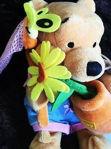 BNWT RARE DISNEY STORE WINNIE THE POOH COUNTRY GARDEN FLOWER POT POOH