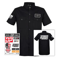 Diesel Power Gear Sparks Motors Black Work Shirt Mens Official Merchandise