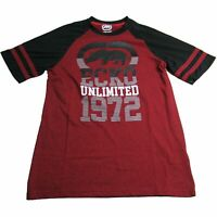 Ecko Unltd. Unlimited  Men's Red 1972 Crew Logo Printed Graphic Tee T-Shirt
