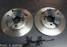 MINI R50 R52 R53 QUALITY FRONT BRAKE DISCS & PADS AND WEAR LEADS - CHECK SIZES