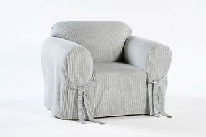 Cotton Ticking Pin Stripe Arm Chair cover Twill Fabric