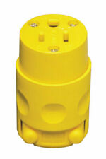 Leviton C30-515CV-000 Yellow 15A 125V PVC Ground/Straight Blade Connector
