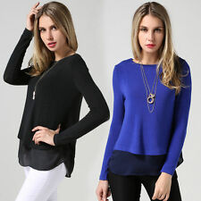 Women's Cotton Blend Scoop Neck Casual Blouse Tops & Shirts