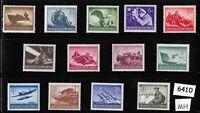 #6410   Complete Mint stamp set / Wehrmacht & other Military 1944 / Third Reich