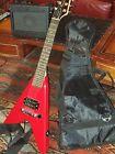 Gibson Baldwin Maestro Roadie mini Flying V travel Guitar, amp, bag, battery