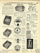 1931 PAPER AD Presto Supreme Glass Top Aluminum Caps Maso Fruit Jar Jars