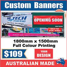 Custom Outdoor Vinyl Banner Sign - 1800mm x 1500mm - Australian Made