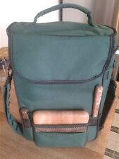 Picnic Time Duet Insulated Wine & Cheese Tote Forest Green With Accessories