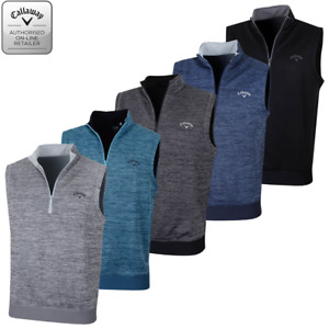 Callaway Golf Heathered Fleece 1/4 Zip Vest Sleeveless 3 colours small-xxl 80B1