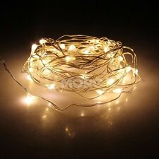 4M 40Led Copper Wire Fairy String Starry Lights Xmas Wedding Party Garden Decor