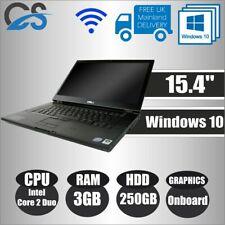 """WINDOWS 10 DELL LATITUDE E6500 15.4"""" LAPTOP INTEL CORE 2 DUO 4GB DDR2 250GB HDD"""