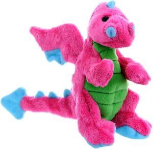 GoDog Chew Guard Technology Bright Pink Dragon Plush Durbale Small Dog Toy