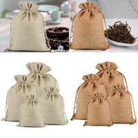 Burlap Bags Drawstring Party Favor Bags Jewelry Pouch Treat Bags for Wedding