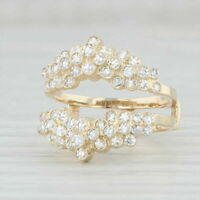 1Ct Round Cut Diamond 14K Yellow Gold Finish Engagement Enhancer Wrap Ring Guard