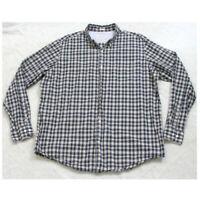 XL Banana Republic Blue White Long Sleeve Cotton Pocket Dress Shirt Button Up