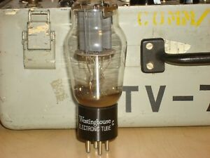 1 WESTINGHOUSE 2A3 (VT-95) DOUBLE GREY PLATE TUBE USA TESTED STRONG
