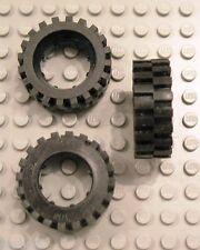LEGO Mindstorms Technic Black Rubber Tire #2346 Size 30 x 10.5 Offset Tread x2