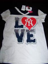 5th & Ocean Girls New York Yankees Shirt NWT Bling Size 10-12