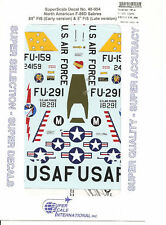 Superscale Decal 48-954 N.A. F-86D Sabre
