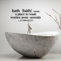 BATH DEFINITION WORDS BATHROOM VINYL DECOR DECAL WALL LETTERING STICKER QUOTE