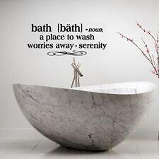 BATH DEFINITION WORDS BATHROOM VINYL DECOR DECAL WALL LETTERING STICKER QUOTE