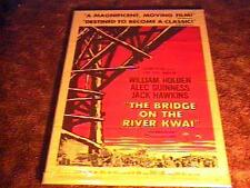 "Bridge On River Kwai ""B"" Movie Poster '58 Classic"