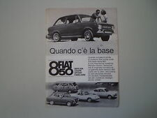 advertising Pubblicità 1965 FIAT 850 BERLINA/COUPE'/SPIDER/FAMILIARE