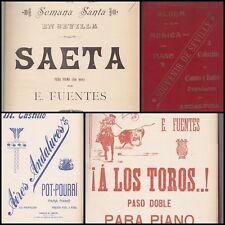 11 PARTITIONS PIANO ALBUM DE MUSICA COLECCION DE CANTOS Y BAILES DE ANDALOUCIA