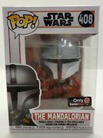 Star Wars Funko POP Mandalorian 408 Mandalorian GAMESTOP EXCLUSIVE PROTECTOR