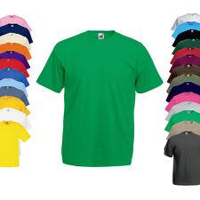 Fruit of the Loom Herren T-Shirt VALUEWEIGHT T S M L XL XXL 3XL 4XL 5XL Neu F140