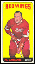 1964 65 TALL BOY TOPPS HOCKEY #13 AL LANGLOIS EX+ DETROIT RED WINGS CARD