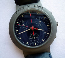 BMW M Style Power Motorsport Racing Titanium Business Sport Watch Chronograph