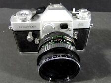 Vtg LEICAFLEX LEITZ Body, Booklet, Vivitar 28mm Lens film CAMERA & case - As Is
