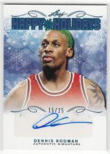 2015 Leaf Happy Holidays Blue Dennis Rodman Autograph LP 15/25 Chicago Bulls
