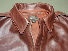 US Army AAF WW2 EASTMAN PILOT A-2 SEAL BROWN HORSEHIDE LEATHER FLIGHT JACKET