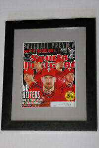 """Sports Illustrated April 4,2011 Phillies No Hitters Autograhed By All """"RARE"""""""