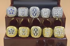 10pcs/set 1971 1977 1992 1993 1995 Dallas Cowboys Championship Ring !!!!