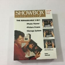 Showbox Photo Viewer Picture Frame Storage Holds 40 Pics Charcoal NEW