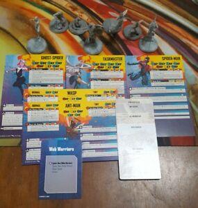 Crisis Protocol Lot - Miles, Gwen, antman, wasp, Taskmaster Atomic Mass