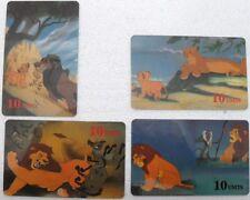 """serie di 4 schede telefoniche """"RE LEONE""""-carte internazionali GLOBAL-ONE"""