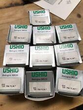 Ushio Set Of 10 Mr16 Halogen Bulbs Evc 12v 75w Fl36