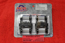 7071 Atlas O 2 Rail Streamlined Passenger Car Trucks Black NEW IN BOX