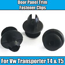 10x Clips For VW Transporter Eurovan T4 T5 Interior Trim Door Panel Fixing Black
