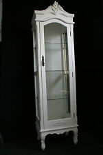 NEW FRENCH PROVINCIAL GLASS CABINET DISPLAY SHELF ARMOIRE CHIC - V11-342