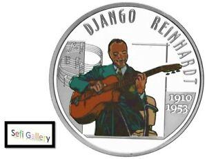 Belgium 10 Euro 2010 Django Reinhardt Silver Coin