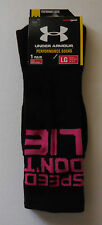 Under Armour Men's Ua Speed Don't Lie Crew Socks Size Large One Pairs New!