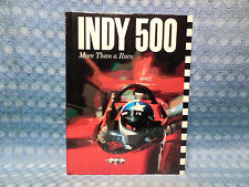 Indy 500 More Than A Race - Book with Dust Jacket Tom Carnegie 1987 1st Printing