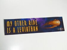 Farscape Moya  My Other Ride is a Leviathan  Car Bumper Sticker